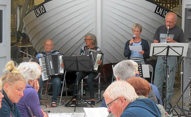 Sang og musik ved Løkken Redningshus for anden gang