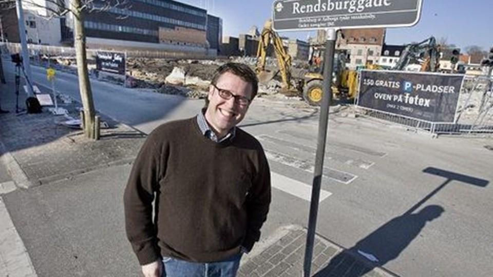 Flemming Thingbak ser frem til, at Aalborg bliver en endnu stærkere handelsmagnet i landsdelen. Men han er sikker på, at Aalborgs styrke vil kunne mærkes i de øvrige nordjyske byer. Foto: Grete Dahl