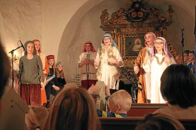 Børnene opførte kirkemusical.Foto: Slava Dzhukhil