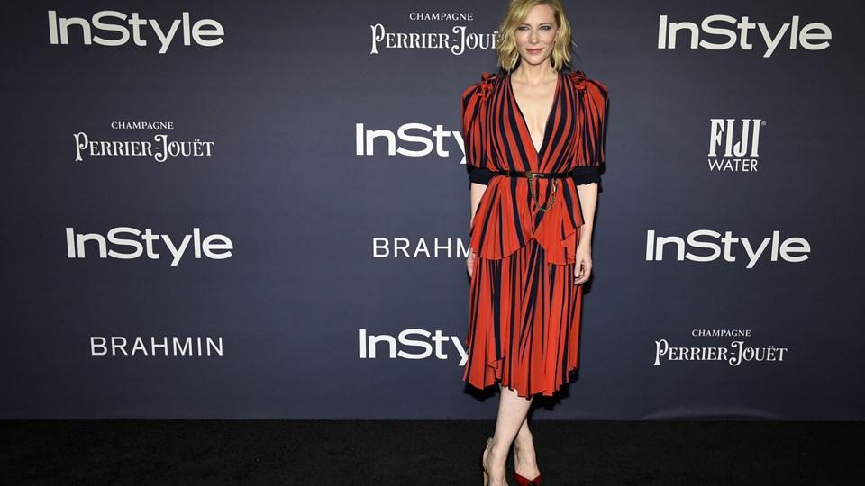 Skuespillerinden Cate Blanchett skal som den 12. kvinde lede juryen på årets Cannes filmfestival. Foto: /ritzau/Chris Pizzello/arkiv