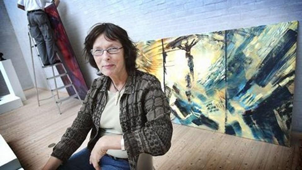 Billedkunstner Anita Houvenaeghel besøger Vedsted Sognegård på torsdag. Arkivfoto: Jens Morten