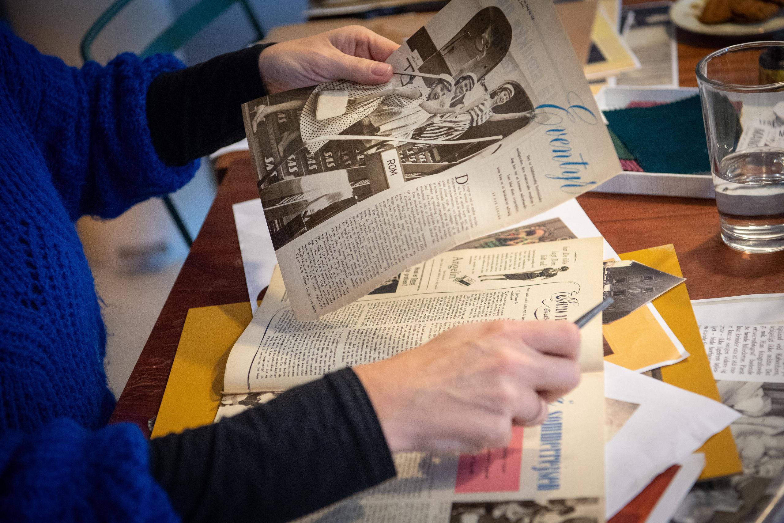 Gitte Lacarriere er kreativ med genbrug og retrofund. Foto: Kim Dahl