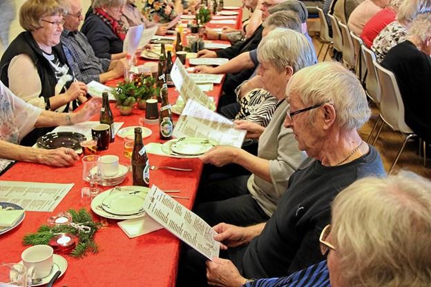 Der blev sunget med på sangene.Foto: Hans B. Henriksen Hans B. Henriksen