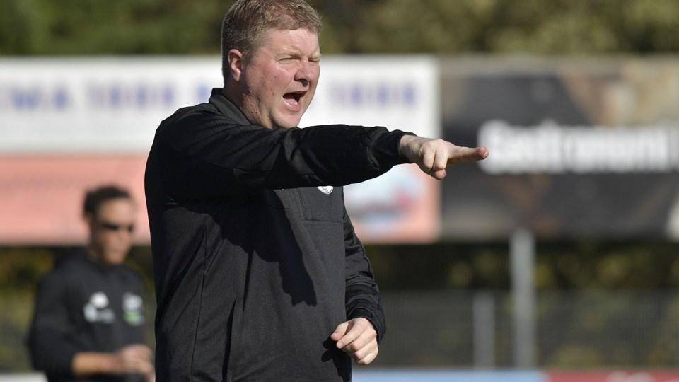Første halvleg mod Brøndby blev lang for FC Thy-træner Torben Overgaard. Arkivfoto: Thomas Gregersen