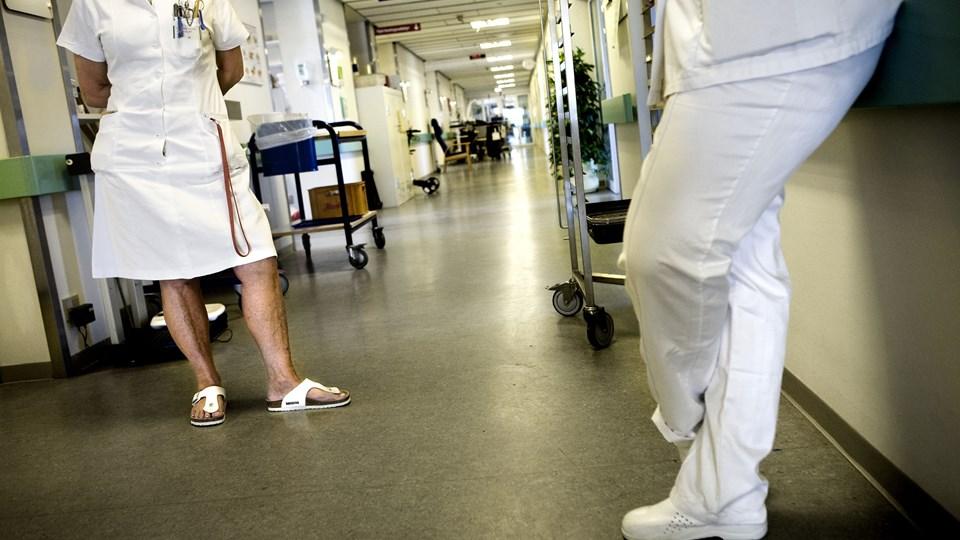 Ansatte på Frederiksberg Hospital blev tidligt lørdag morgen udsat for så voldsomme trusler, at man valgte at tilkalde politiet (arkivfoto). Foto: Scanpix/Kristian Brasen/arkiv