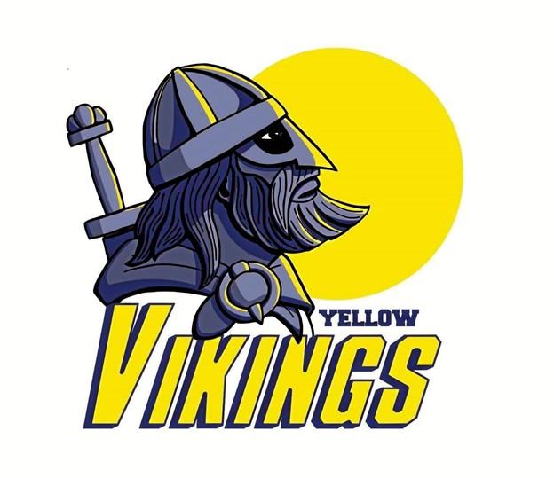Dette logo foreslår arbejdsgruppen som middel til at brande Hobro Yellow Vikings.