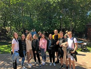 Elever på fransk visit