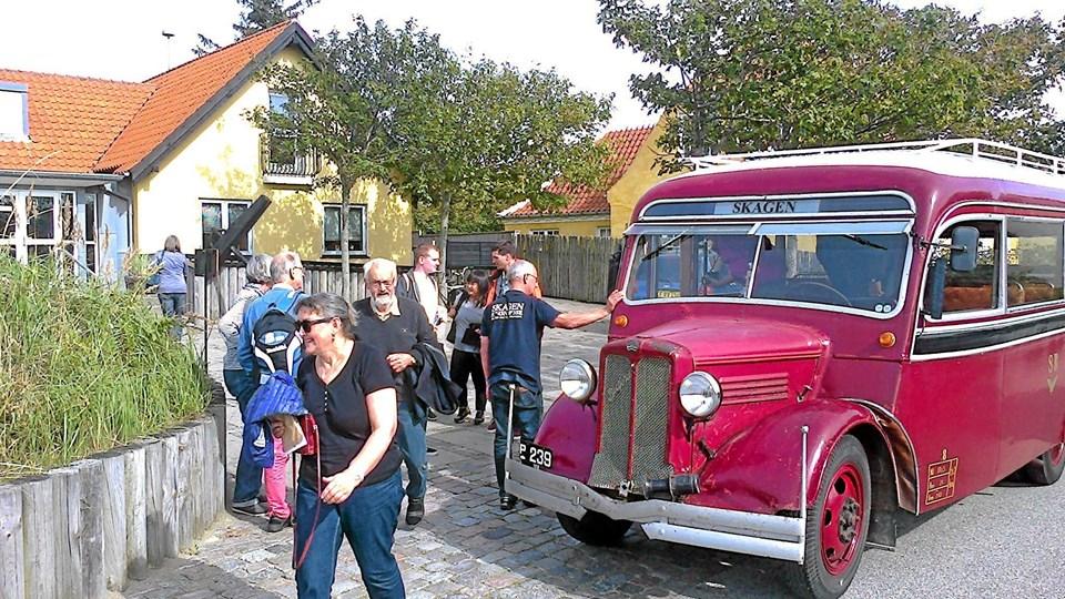 Museets veteranbus, Bedford fra 1937, har sommeren igennem kørt med næsten 100 procent belægning. Privatfoto
