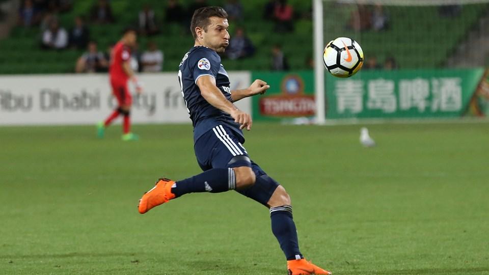 Kosta Barbarouses blev matchvinder, da Melbourne Victory slog Newcastle Jets i den australske mesterskabsfinale. Foto: Scanpix/Con Chronis / Arkiv