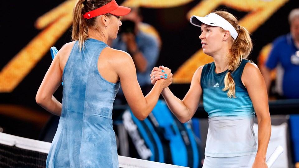 Caroline Wozniacki var senest på banen 18. januar, hvor hun mødte Maria Sharapova i Australian Open.