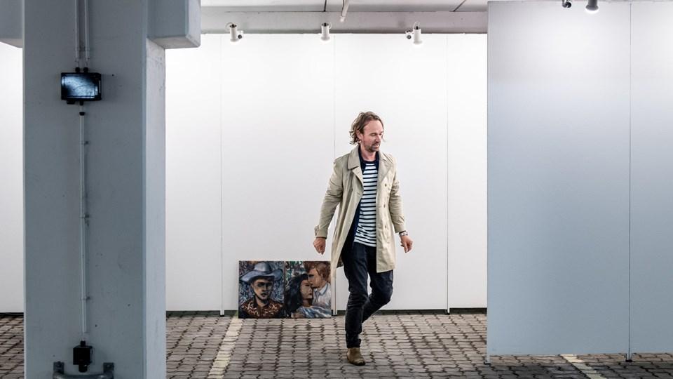40-årige Lasse Thorst debuterede sidste år på North med sin kunst og solgte alle de 12 værker, som blev præsenteret. Foto: Teis Markfoged