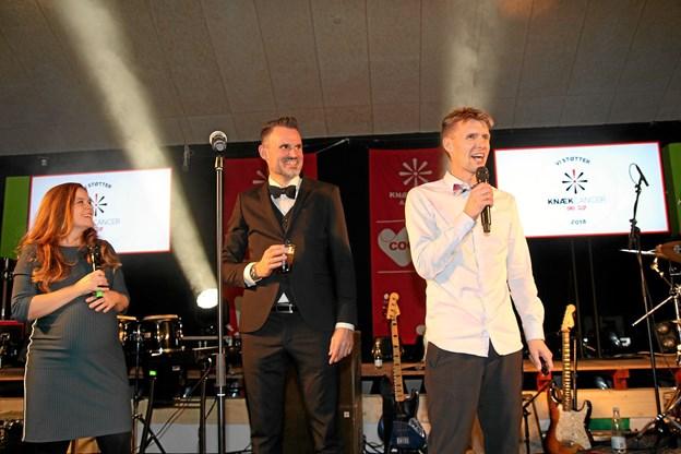 Det var en meget stolt Anders Christiansen, som fra scenen kunne fortælle, der var indsamlet 500.000 kroner til Knæk Cancer i Aabybro.