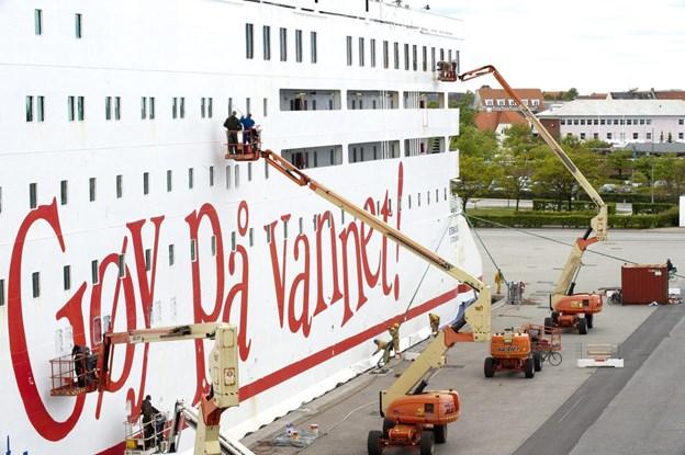 Risikoen for social dumping på norske færger til Danmark er afværget. Arkivfoto: Kim Dahl Hansen
