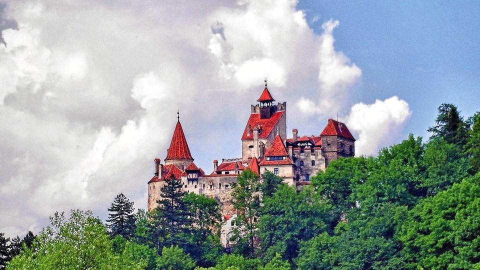 Bran Slottet i byen af samme navn i Rumænien.