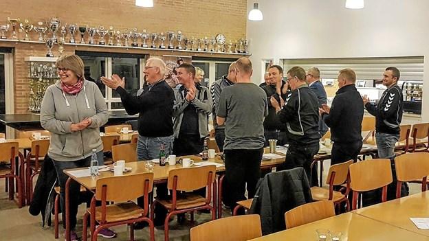 Forsamlingen var tilfreds med det de hørte! Foto: Karl Erik Hansen