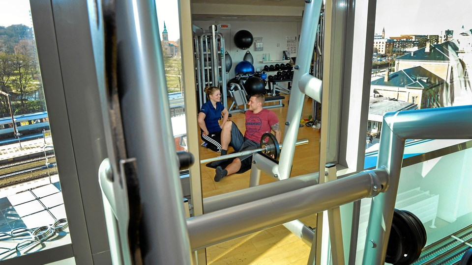 Vi sætter kursen mod fitness-centret Foto: Jesper Thomasen