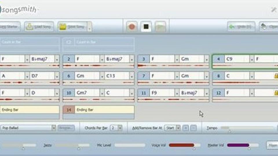 Automat-orkester: Syng i mikrofonen - så klarer Songsmith musikken.