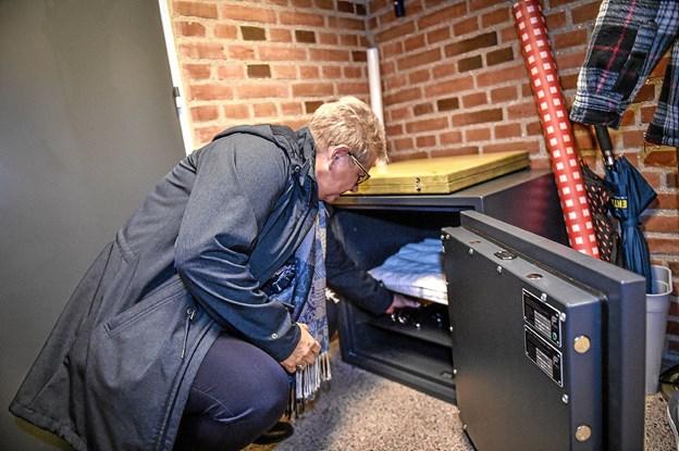 Kontrolnøglerne deponeres ved siden af borgmesterkæden i pengekassen. Foto: Ole Iversen