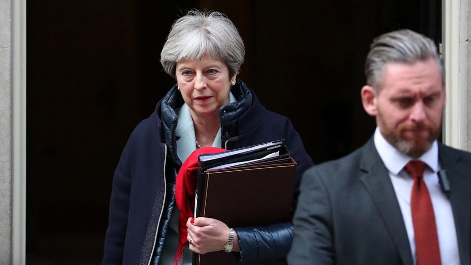Den britiske premierminister, Theresa May, byder støtten fra briternes allierede velkommen som et stærkt signal til Rusland om, at det ikke kan fortsætte med lovstridige handlinger. Foto: Reuters/Hannah Mckay