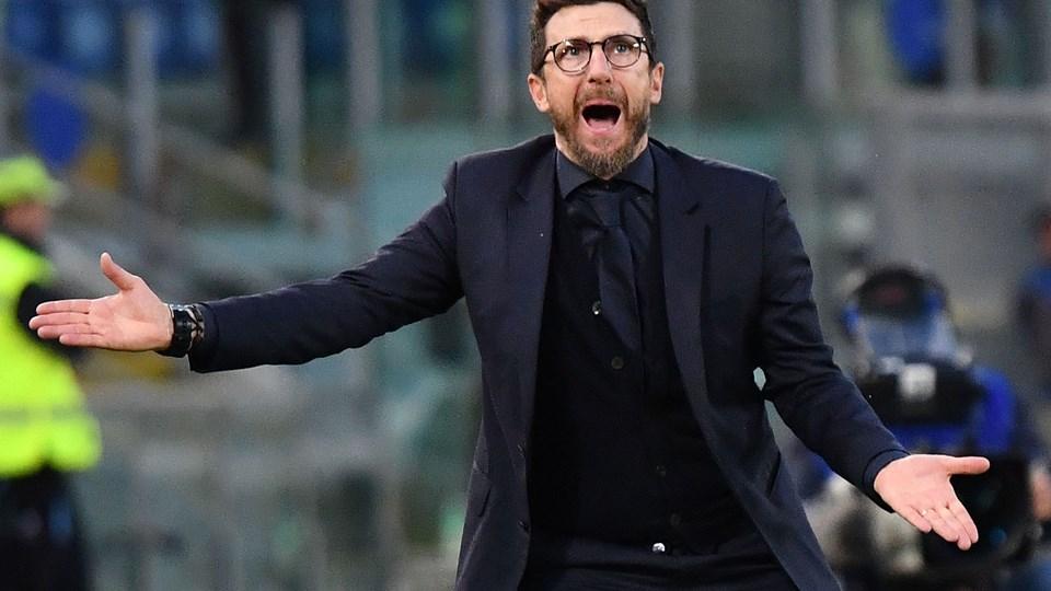 Eusebio Di Francesco blev ansat som Roma-træner forud for indeværende sæson. Foto: Scanpix/Alberto Pizzoli