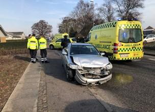 Anholdt for spritkørsel: Ung bilist ramte forankørende