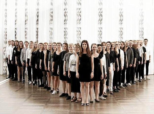 Syng Selected, der er et a capella kor skal øve i Thy og giver koncert i Hørdum Kirke. Pressebillede