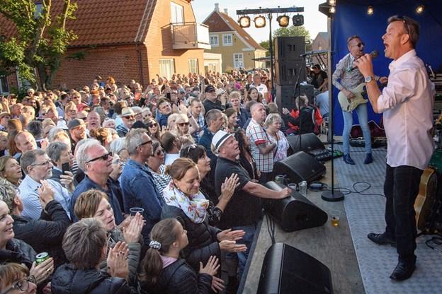 Østre Gasværk spiller op på Fred'n Barney - her foreviget under Skagen festival. Arkivfoto: Peter Broen