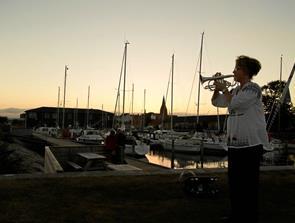 Musikalsk solnedgang i Nykøbing