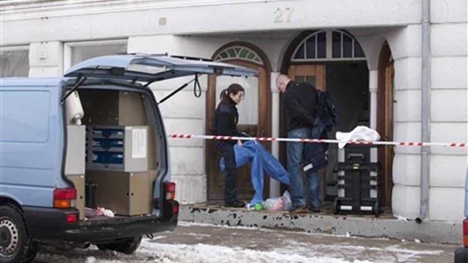 Var det med vilje, at den 26-årige drabstiltalte mand tog livet af Tina Olesen? Eller ligger hændelsesforløbet i lejligheden i Skovsgaard natten til 26. december et sted der i mellem? Arkivfoto