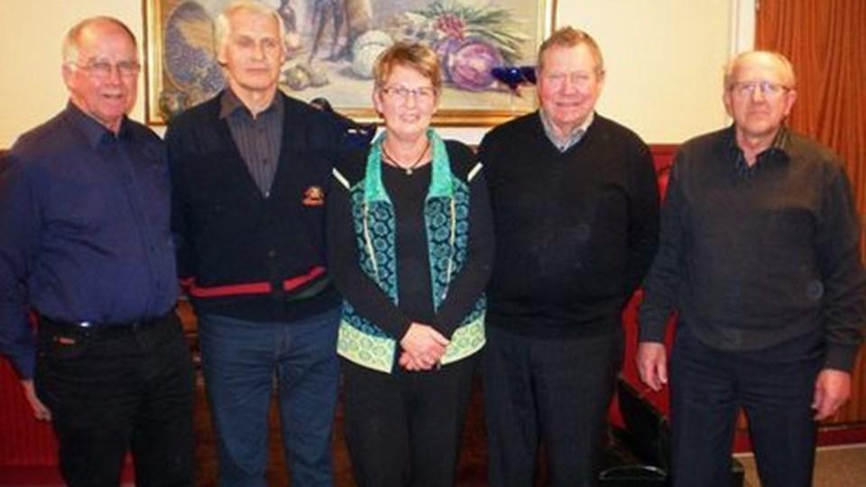 Landbrugets Seniorklubs nye bestyrelse. Privatfoto