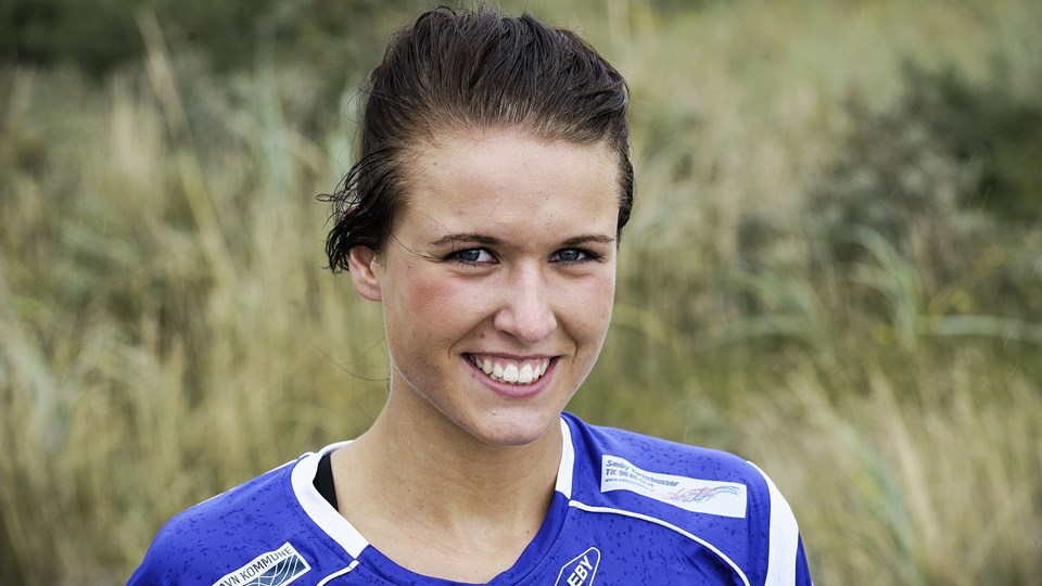 Anne Hyldahl var udset til at blive profil i Vendsyssel Håndbold, men en langvarig skulderskade har hæmmet hende igennem hele sæsonen.Foto: Peter Broen