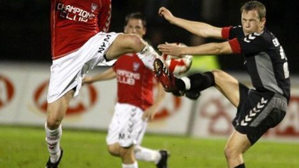 Vejle gjorde det af med AaB i seneste runde af pokalturneringen. Nu er turen kommet til FC Midjylland Foto: Scanpix.
