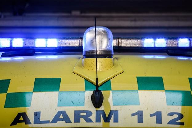 Mand kørt med politieskorte efter trafikulykke i Vrå