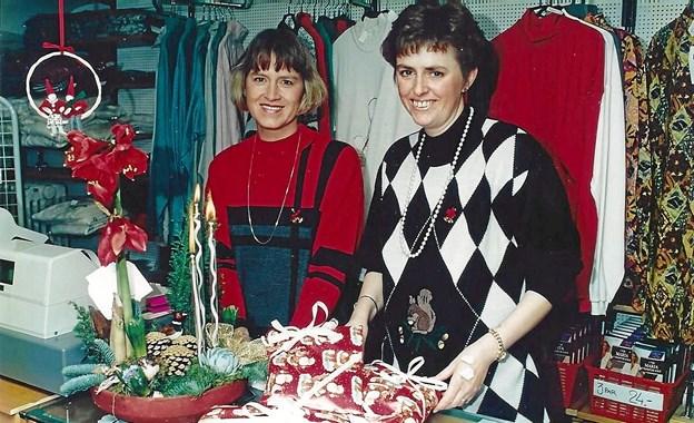 Anni Myrup og Lilly Jensen, som de så ud for 25 år siden. Foto: Mogens Lynge