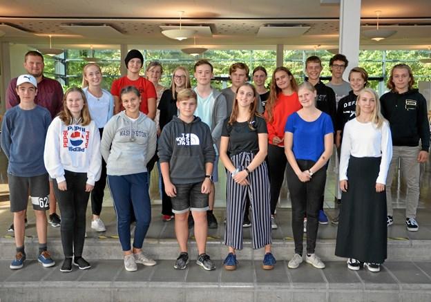 Skoleelever er startet på et ambitiøst Cambridge English kursus på gymnasiet. Foto: Privat.