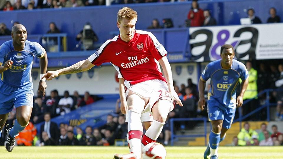 Hvis Nicklas Bendtner skal have spilletid i efteråret, så skal det være i Arsenal-trøjen. Foto: IAN KINGTON/Scanpix