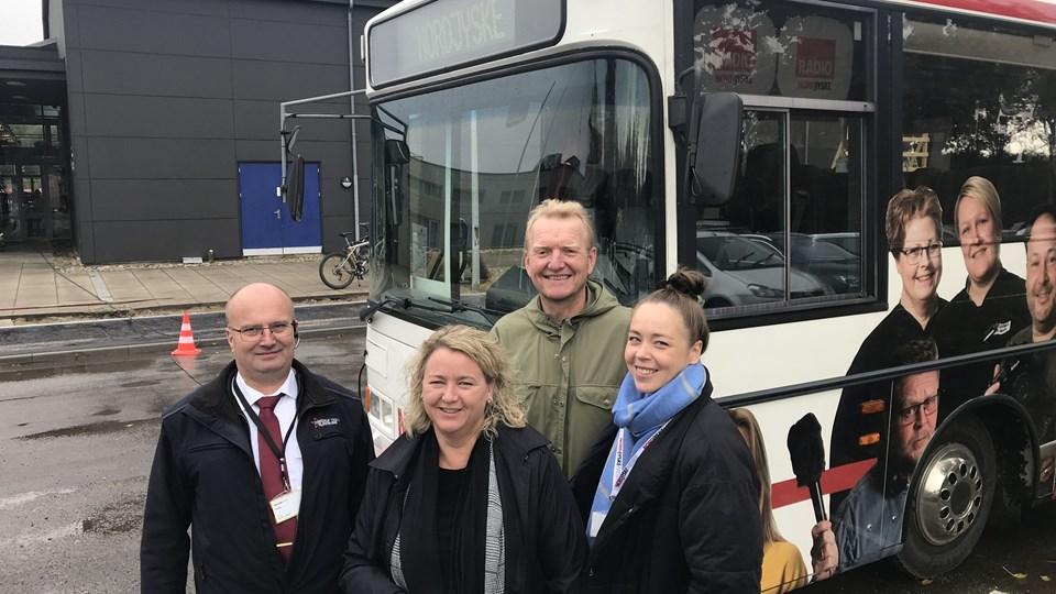 NORDJYSKE's hold i Vrå er klar til at tage imod gæster ved centret. Foto: Peter Broen