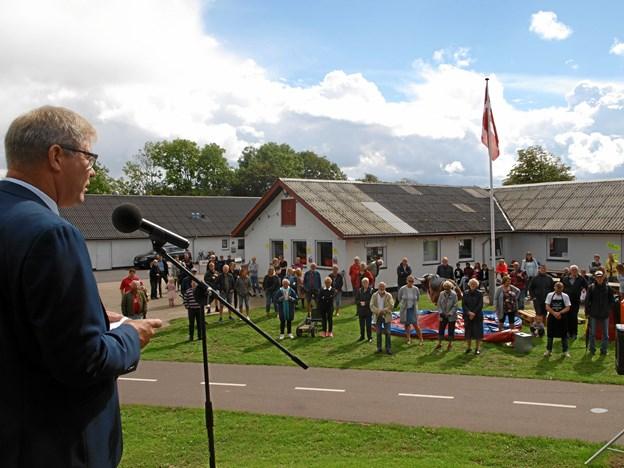 Borgmester Arne Boelt holdt fødselsdagstalen.    Foto: Arne Larsen-Ledet