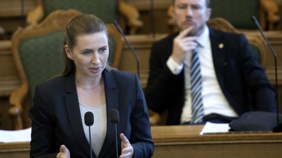 En kommentar fra S-formand Mette Frederiksen på Facebook i sidste uge betød, at hun havnede i et stormvejr. Scanpix/Keld Navntoft