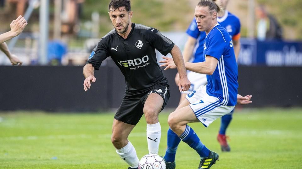 Randers FC tog et stort skridt mod overlevelse i Alka Superligaen med en sejr på 2-1 ude over Lyngby. Foto: Anders Kjærbye/RItzau Scanpix