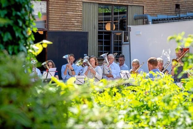 Selvfølgelig var der musik til afskedsreceptionen. Foto: Aage Møller-Pedersen
