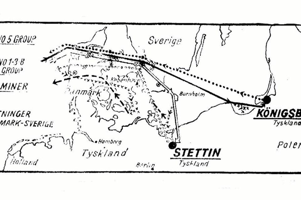 I sommeren 1945 fik Ejnar Viggo Christensen besøg af to officerer fra Royal Airforce, der ønskede nærmere oplysninger om nedstyrtningen og overflyvningerne, som stemte med Royal Airforce's optegnelser. De havde også et kort med, der viste de ruter, som de allierede fly tog natten til den 30. august 1944, hvor der var bombetogter mod både Stettin og Køningsberg. Lancaster ME718, der styrtede ned ved Oue, var blandt dem, der havde Stettin som mål.