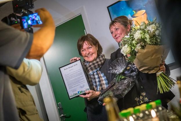 Billeder fra Nørhalne Hallen, hvor Inge Pedersen torsdag fik overrakt prisen for Årets ildsjæl 2018 i Jammerbugt Kommune.      Foto: Martin Damgård