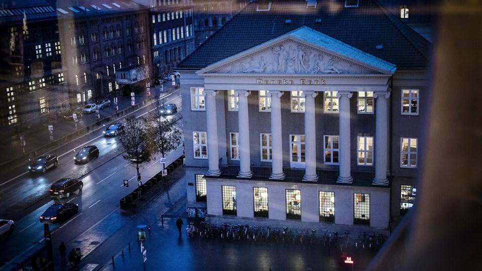"""Danske Banks estiske har været brugt til at hvidvaske penge. Halvvejs igennem forsikrede Danske Banks juridiske kontor i København Finanstilsynet om, at der var """"styr"""" på kunderne. Foto: Scanpix/Thomas Lekfeldt"""