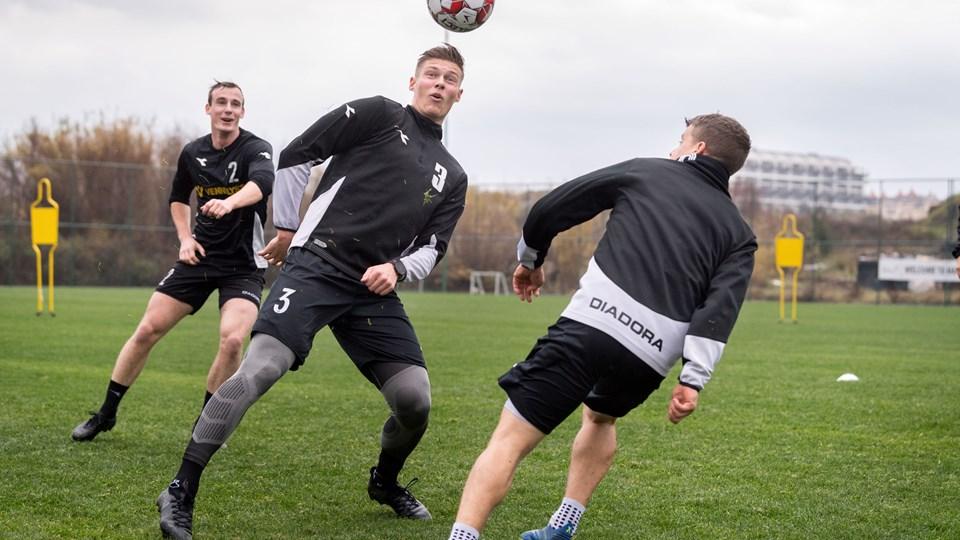 Jakob Hjorth er endelig tilbage på træningsbanen efter en lang kamp med efterveerne efter en hjernerystelse. Foto: Torben Hansen