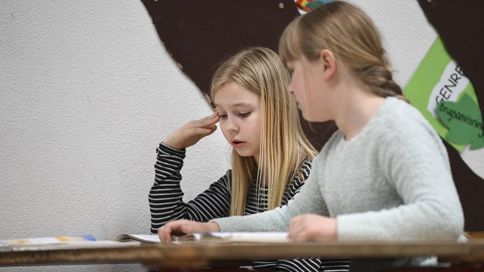 De obligatoriske nationale test vil - trods hård kritik - fortsat være end del af skolegangen for eleverne i Aalborg Kommunes skoler. Arkivfoto: Mette Nielsen