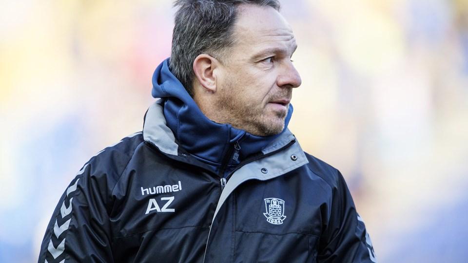 Brøndby-træner Alexander Zorniger mener, at FC Midtjylland har en masse individuel kvalitet. Foto: Scanpix/Claus Bech