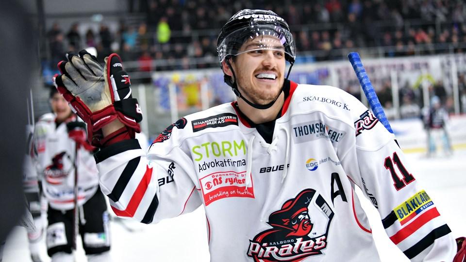 Olivier Hinse kan ikke vente med at komme på isen mod Esbjerg fredag aften.Arkivfoto: Hans Ravn