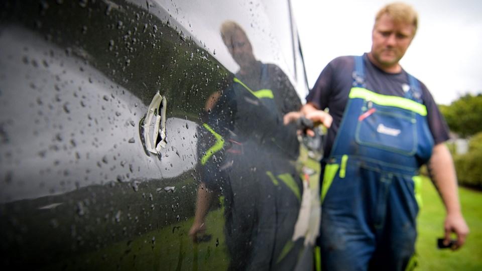 Tyvene har blandt andet været på besøg hos Allan Saaby på Mors. Arkivfoto: Bo Lehm