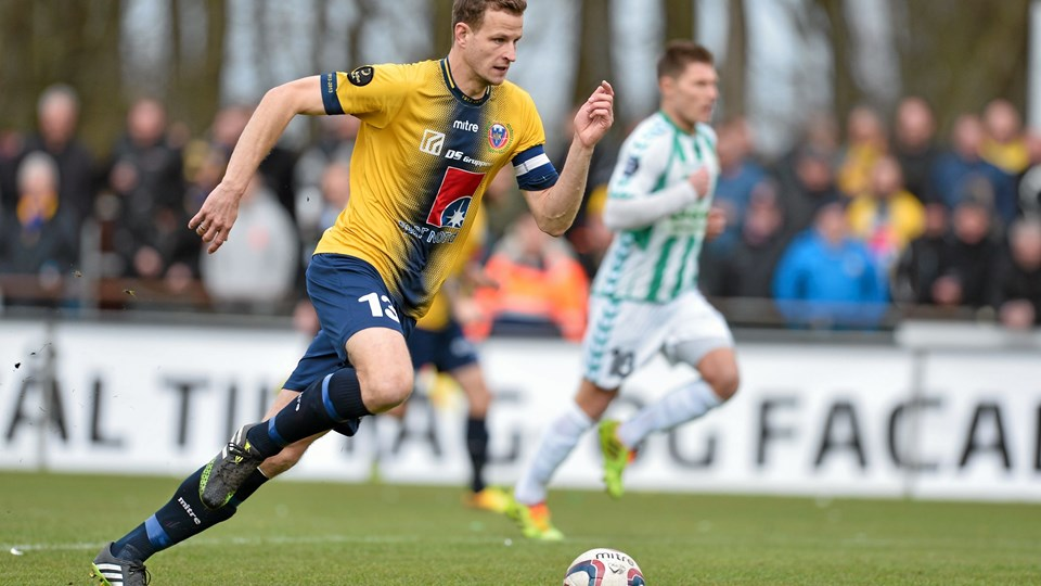 Mads Justesen er tilbage hos Hobro IK, der torsdag møder AC Horsens. Arkivfoto: Lars Pauli